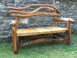 Wooden Garden Bench Plans by Rustic Garden Furniture U2013 Exhort Me