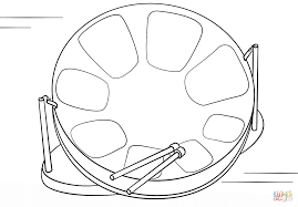 steel drum coloring page free printable coloring pages