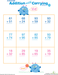 addition addition with regrouping worksheets first grade free