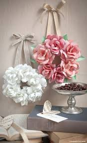 Make Flower With Paper - best 25 paper flower wreaths ideas only on pinterest rose