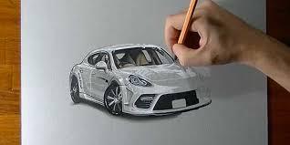 dessin porsche panamera sur motorlegend