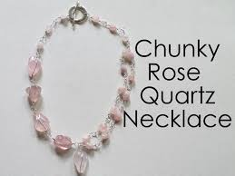 rose quartz rose necklace images Chunky rose quartz necklace emerging creatively jewelry tutorials jpg