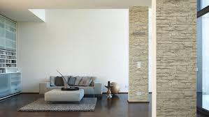 steintapete beige wohnzimmer haus design ideen