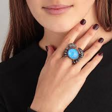 rings with crystal images Crab crystal haze ring jpg