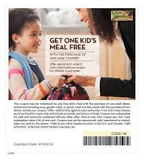 Printable Olive Garden Coupons Free Kid U0027s Meal Printable Coupon At Olive Garden Wayne Nj