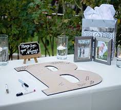monogram guest book wedding guestbook wooden monogram letter sign 22
