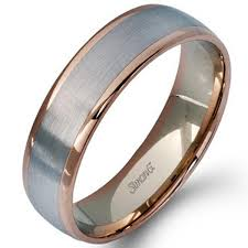 two tone mens wedding band artcaved mens two tone 14k gold wedding ring