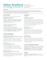 resume of user experience designer inspirational visual designer
