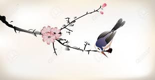 Peinture Cerisier Japonais by Peinture D U0027oiseau Clip Art Libres De Droits Vecteurs Et