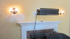amazing hiding wires for wall mounted tv over fireplace tv wall