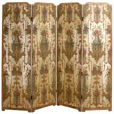 unique room dividers 19th century french folding screen with chinoiserie and floral