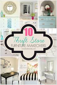 thrift store diy home decor livelovediy 10 thrift store furniture makeovers