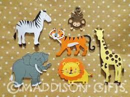 jungle animals card making toppers scrapbooking embellishments