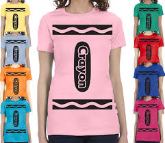 ladies crayon t shirts many crayon colors halloween costume