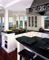 black white vein soapstone kitchen traditional with oversized