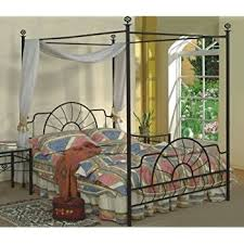 size canopy bed frame size black finish canopy metal bed headboard and