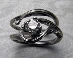 nouveau engagement rings free form nouveau style engagement ring set jewelry