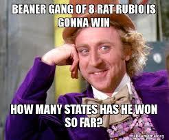 Beaner Meme - beaner gang of 8 rat rubio is gonna win how many states has he won