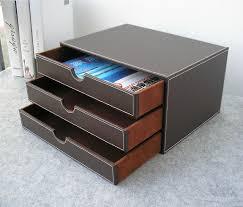 boite bureau horizontal 3 couche 3 tiroir bois bureau en cuir de construction