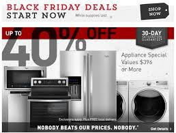 home depot black friday appliance deals lowe u0027s and home depot black november savings now live