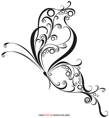 curly tribal butterfly design