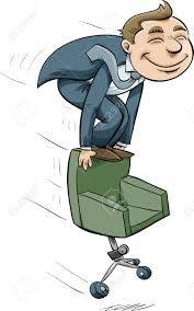 Office Chair Clipart A Cartoon Businessman Riding On Top Of A Speeding Office Chair