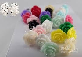 plastic earrings roses hypoallergenic earrings plastic earrings fashion jewelry