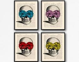 Sugar Skull Bathroom Mystery Skulls Print Etsy