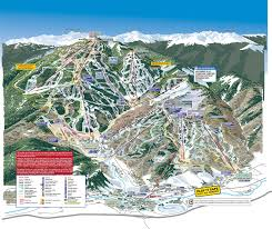 Colorado Elevation Map by Ski U0026 Trail Maps Beaver Creek Mountain Maps Beavercreek Com