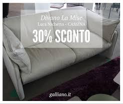 cassina divano occasioni cassina divano la mise design luca nichetto