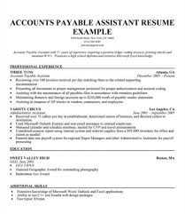 Accounts Receivable And Payable Resume Account Payable Resume New 2017 Resume Format And Cv Samples