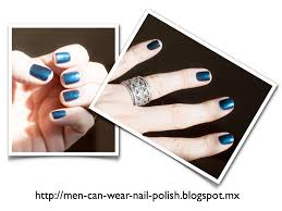 men can wear nail polish l a colors blue lagoon