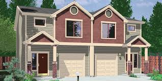 craftsman duplex house plans townhouse row vintage 2 family modern