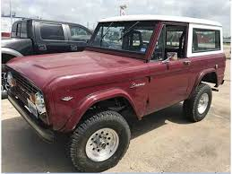 bronco car classic ford bronco for sale on classiccars com
