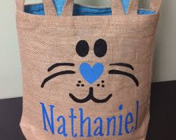 personalized bunny easter basket personalized easter bag burlap easter bunny tinybubblesmore