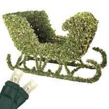outdoor decorations 4 sleigh topiary led outdoor