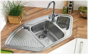 corner sinks for kitchen double bowl corner kitchen sink of save your space with corner