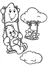 care bears coloring pages playing swing coloringstar
