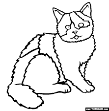 cats online coloring pages page 1