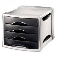 boite de rangement papier bureau module de classement noir 4 tiroirs module de rangement classement