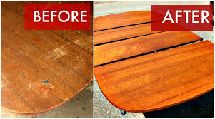 refinish a mid century dining table youtube