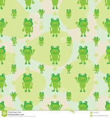 cartoon frog symmetry leaves seamless pattern stock vector image