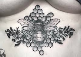 bee tattoo meaning honeycombs hives hornets and more ink vivo