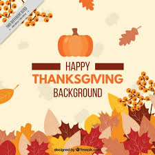 happy thanksgiving day with a floral background vector free