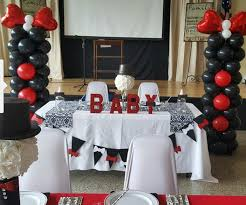 baby shower bow tie theme balloon columns by events by car u0027lisa