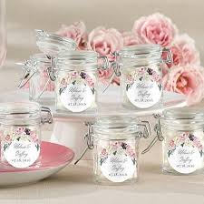 wedding favors garden floral themed glass jar wedding favors