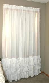 White Ruffle Curtain Panels White Ruffle Curtains U2013 Teawing Co
