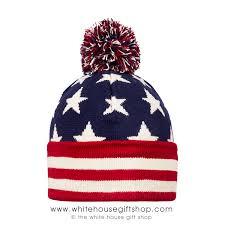American Flag Beanie U S Flag Beanie Hat Knit Antique Color Red Off White U0026 Blue