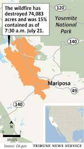 Wildfire Map Mariposa by Wildfire Leaves U0027complete Devastation U0027 In Rural California Town