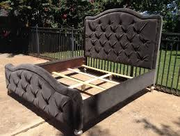 Tufted Headboard Footboard Button Tufted Headboard Diy Home Design Ideas